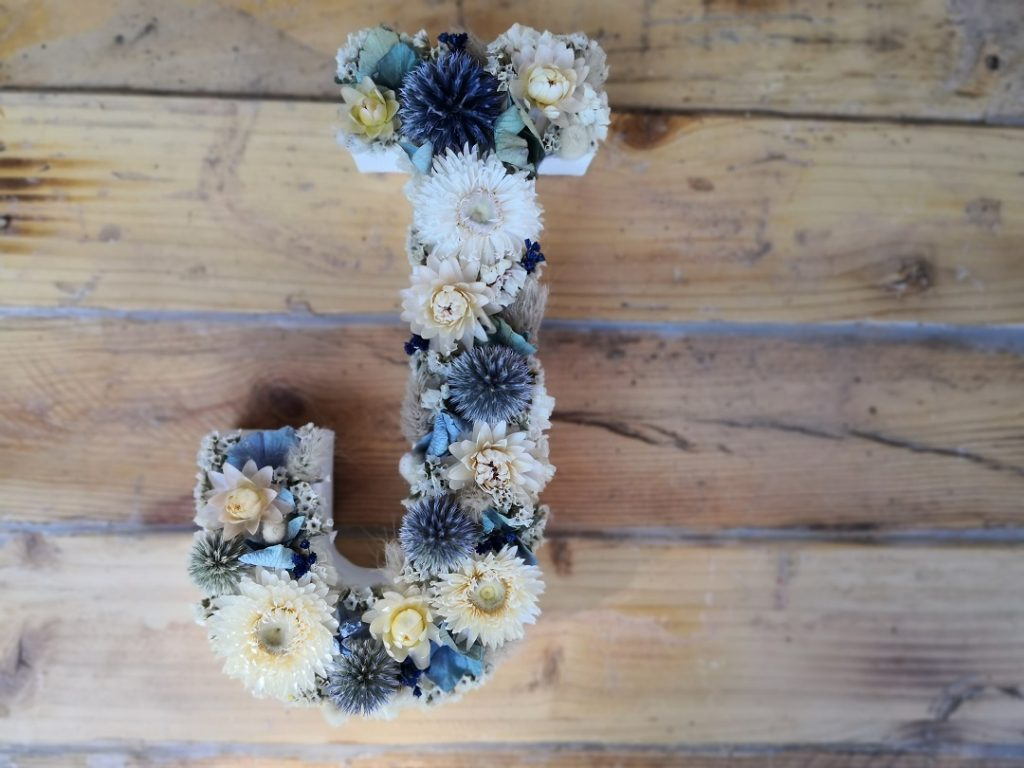 Lettre fleurie